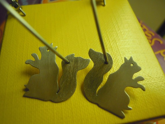 Squirrel Hoop Earrings