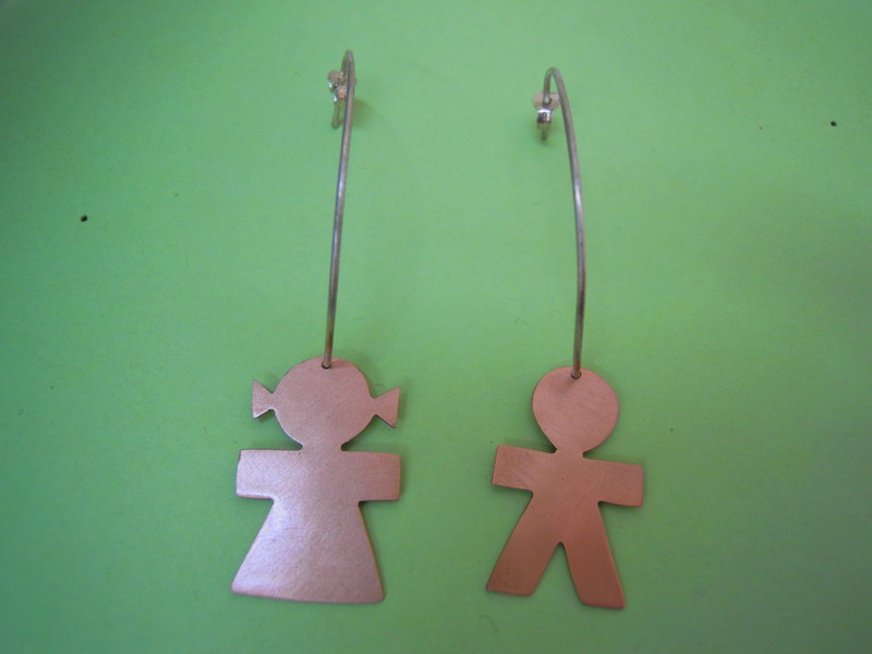 Girl And Boy Hoop Earrings